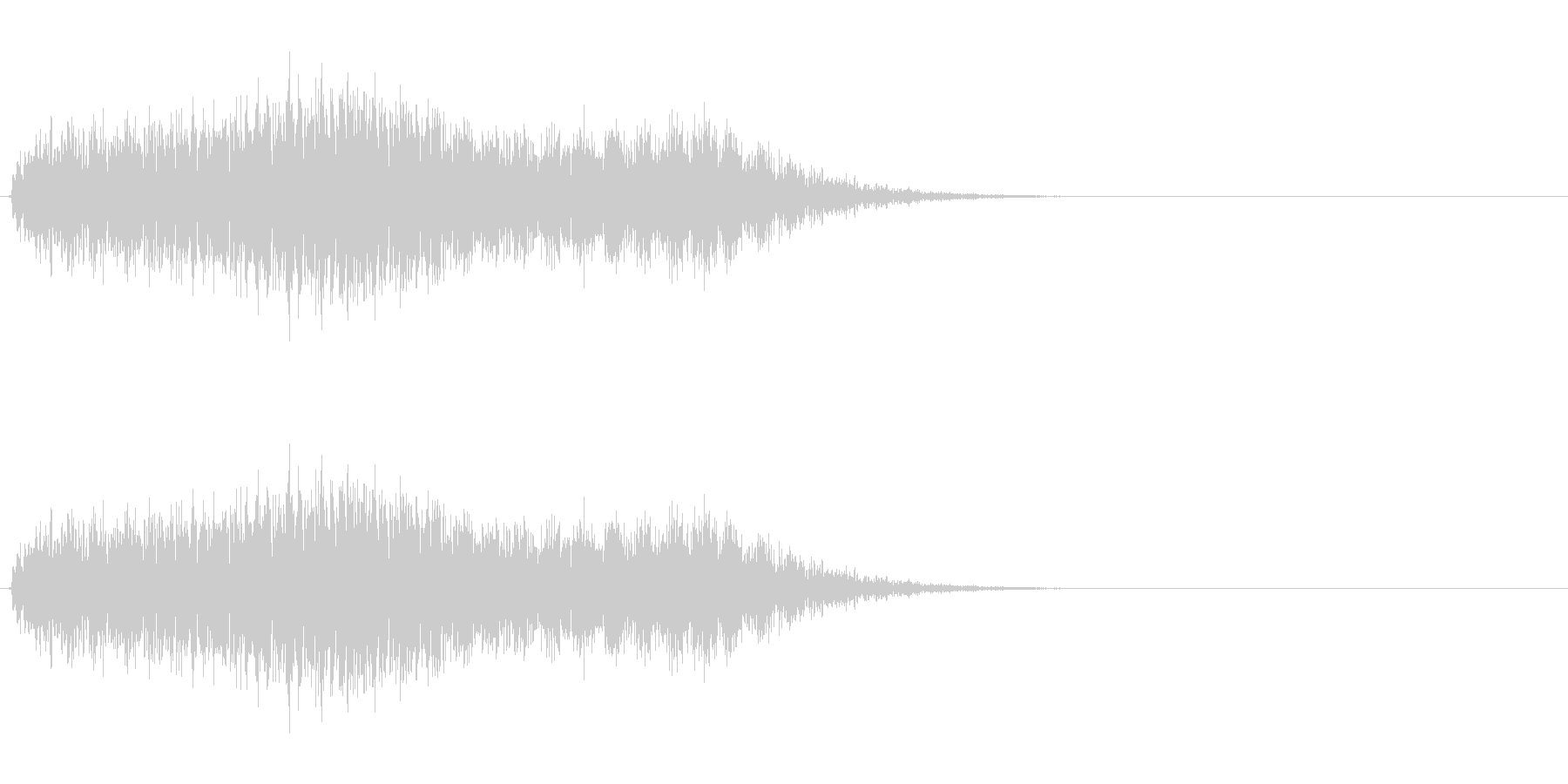 ノイジーなホラー効果の未再生の波形