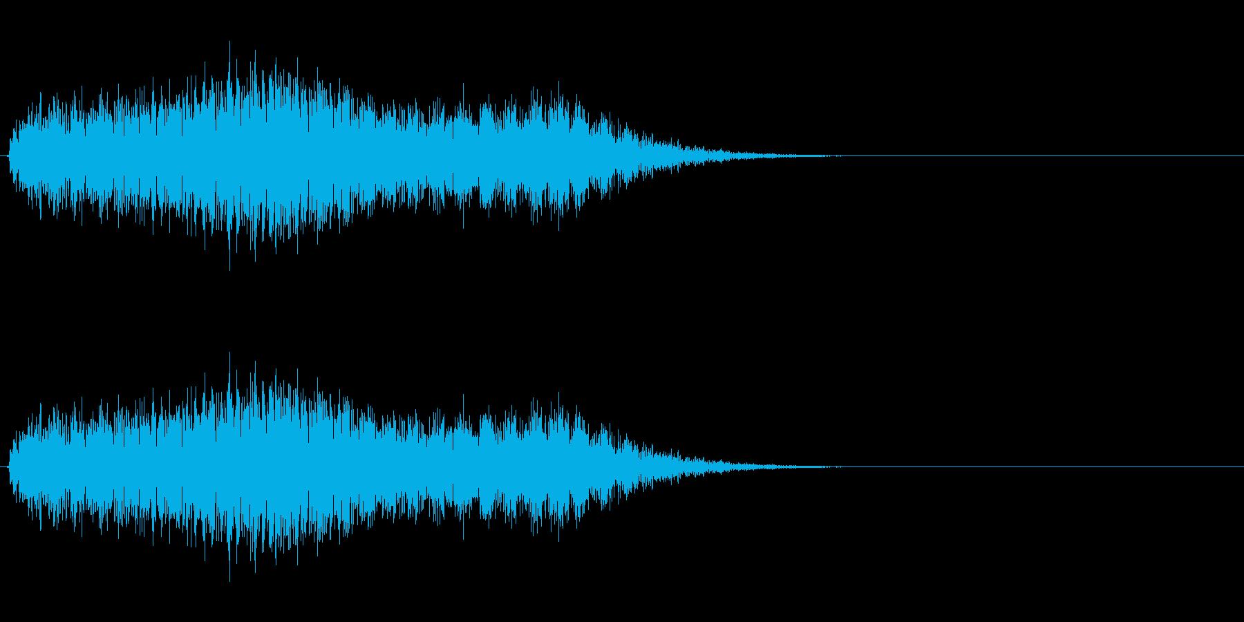 ノイジーなホラー効果の再生済みの波形