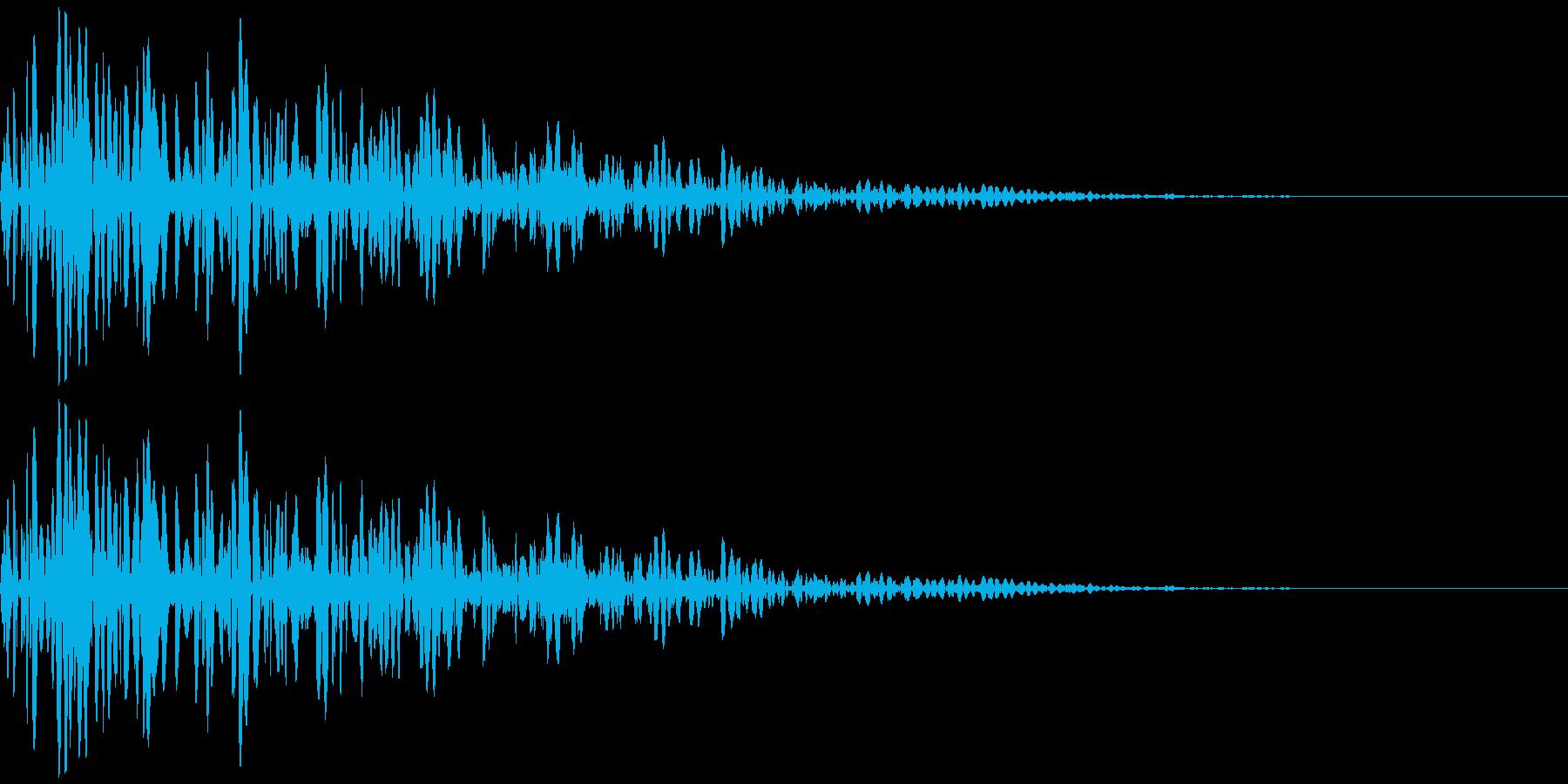 ドスン:巨人やロボットの足音の再生済みの波形