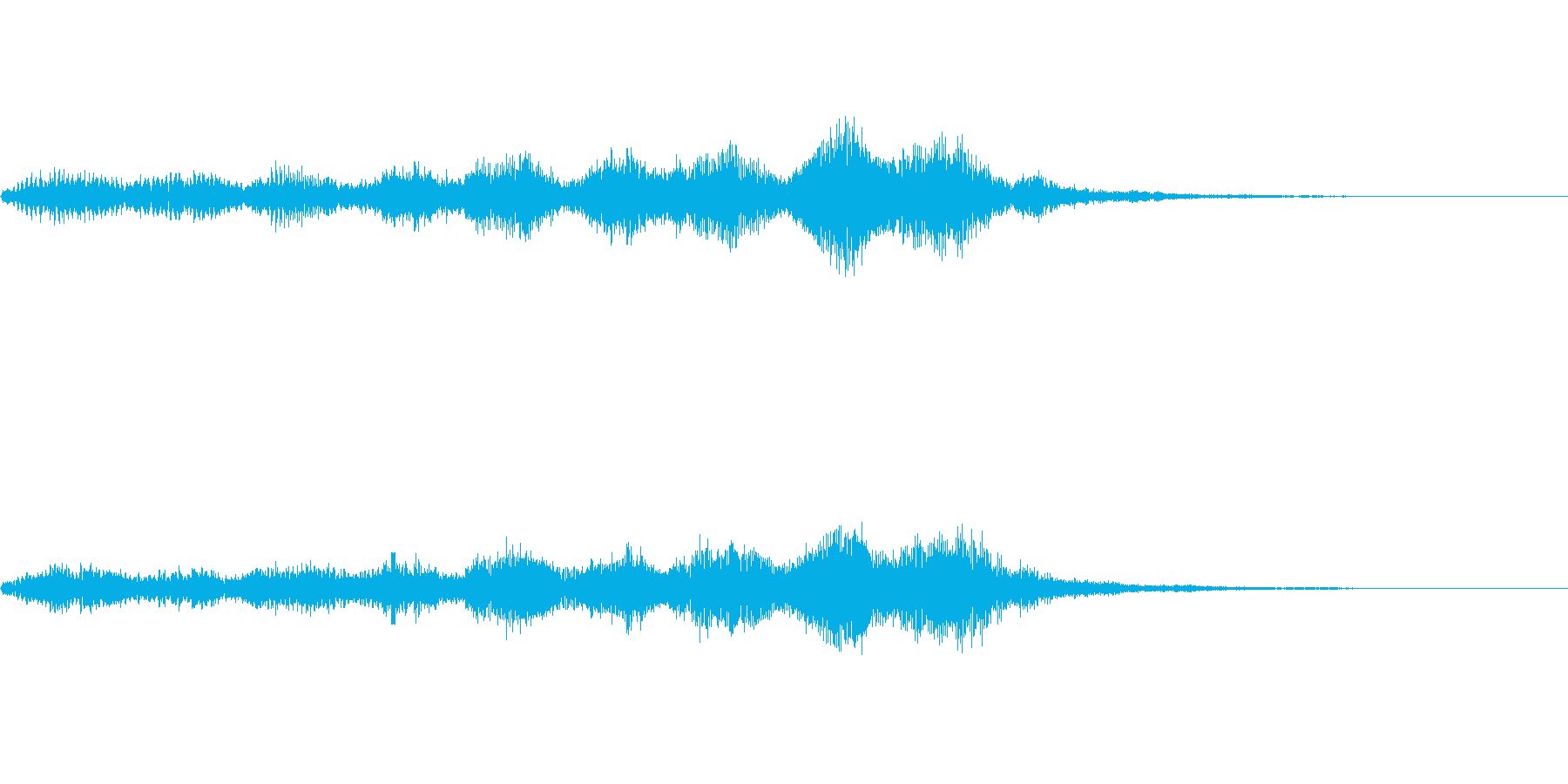 【SE 効果音】奇妙な音3の再生済みの波形