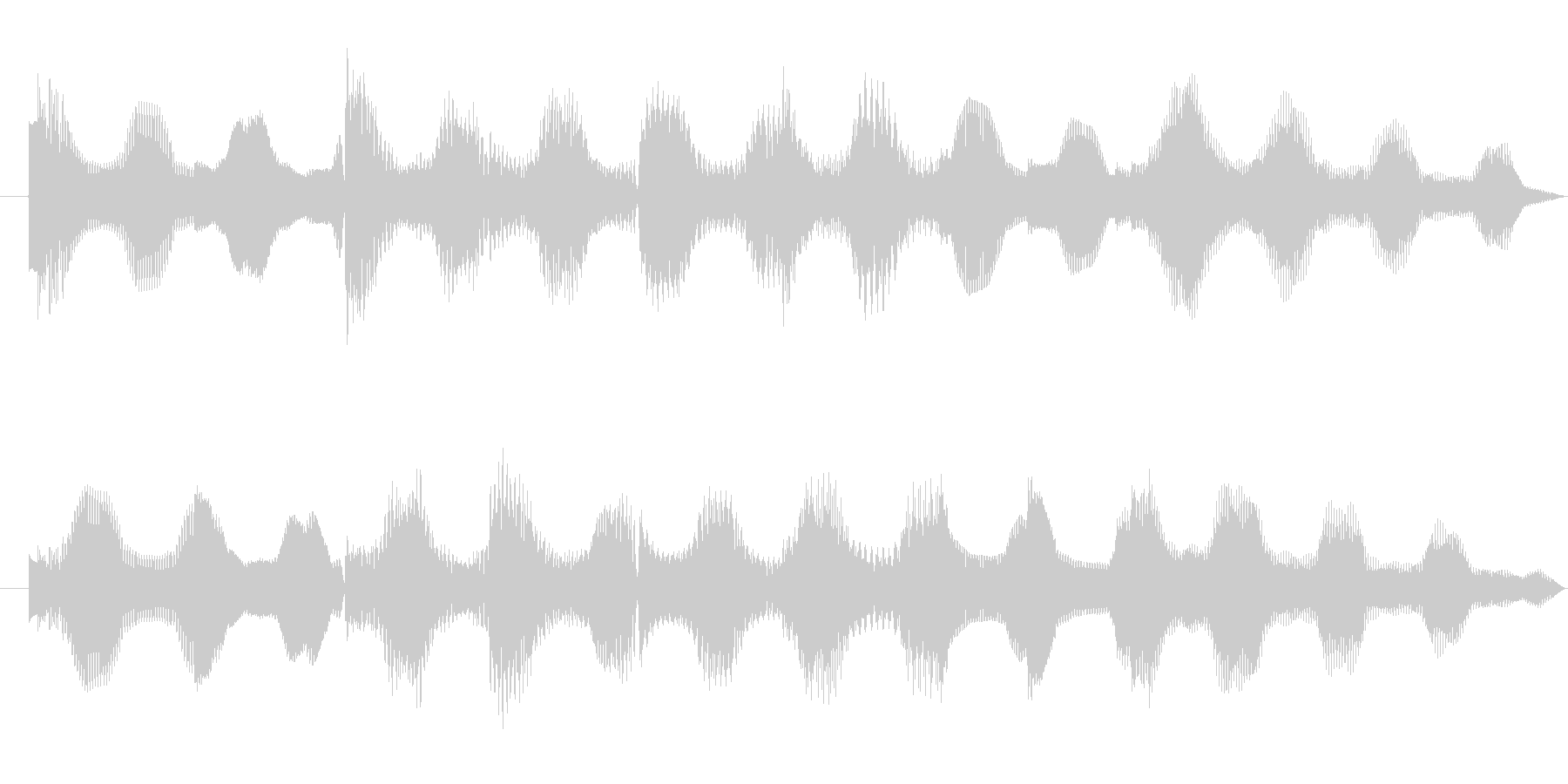 E.Piano soundの未再生の波形