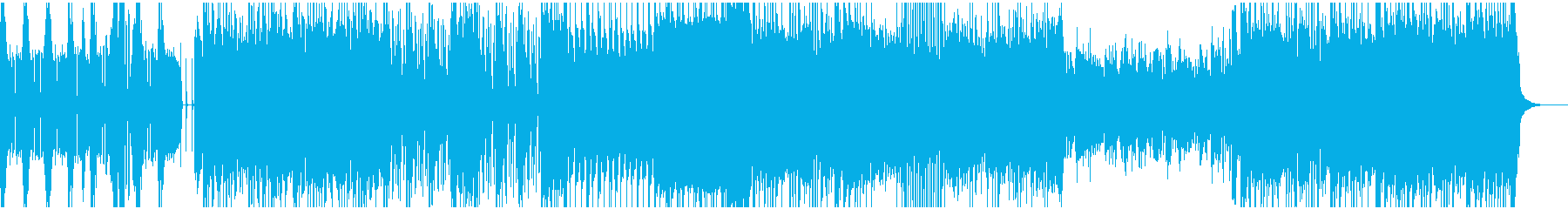 派手なギターロックBGMの再生済みの波形