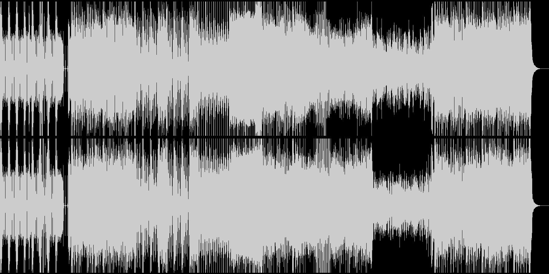 派手なギターロックBGMの未再生の波形