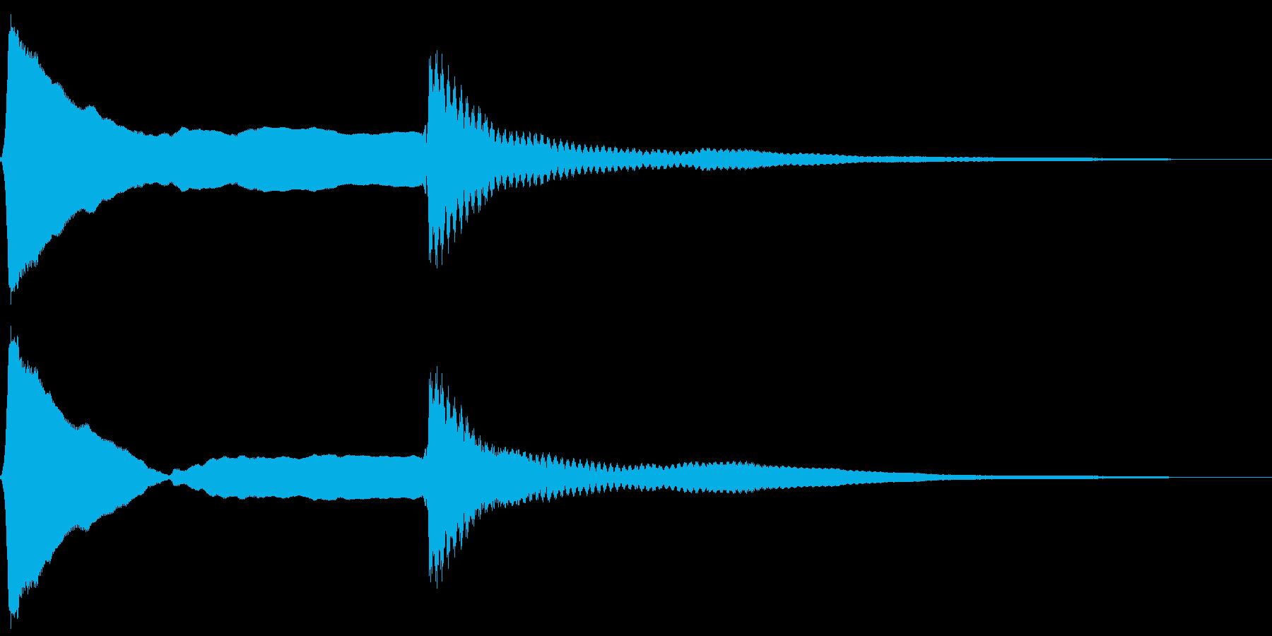 ピーンポーン。クイズ回答・正解音(高)の再生済みの波形