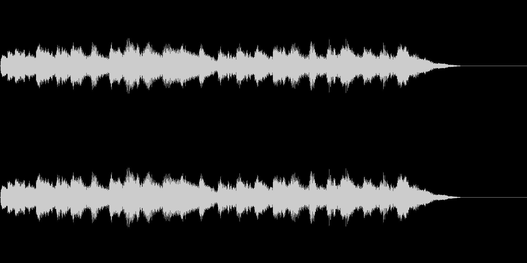 オルゴール、赤ちゃんや幼児をイメージ。の未再生の波形