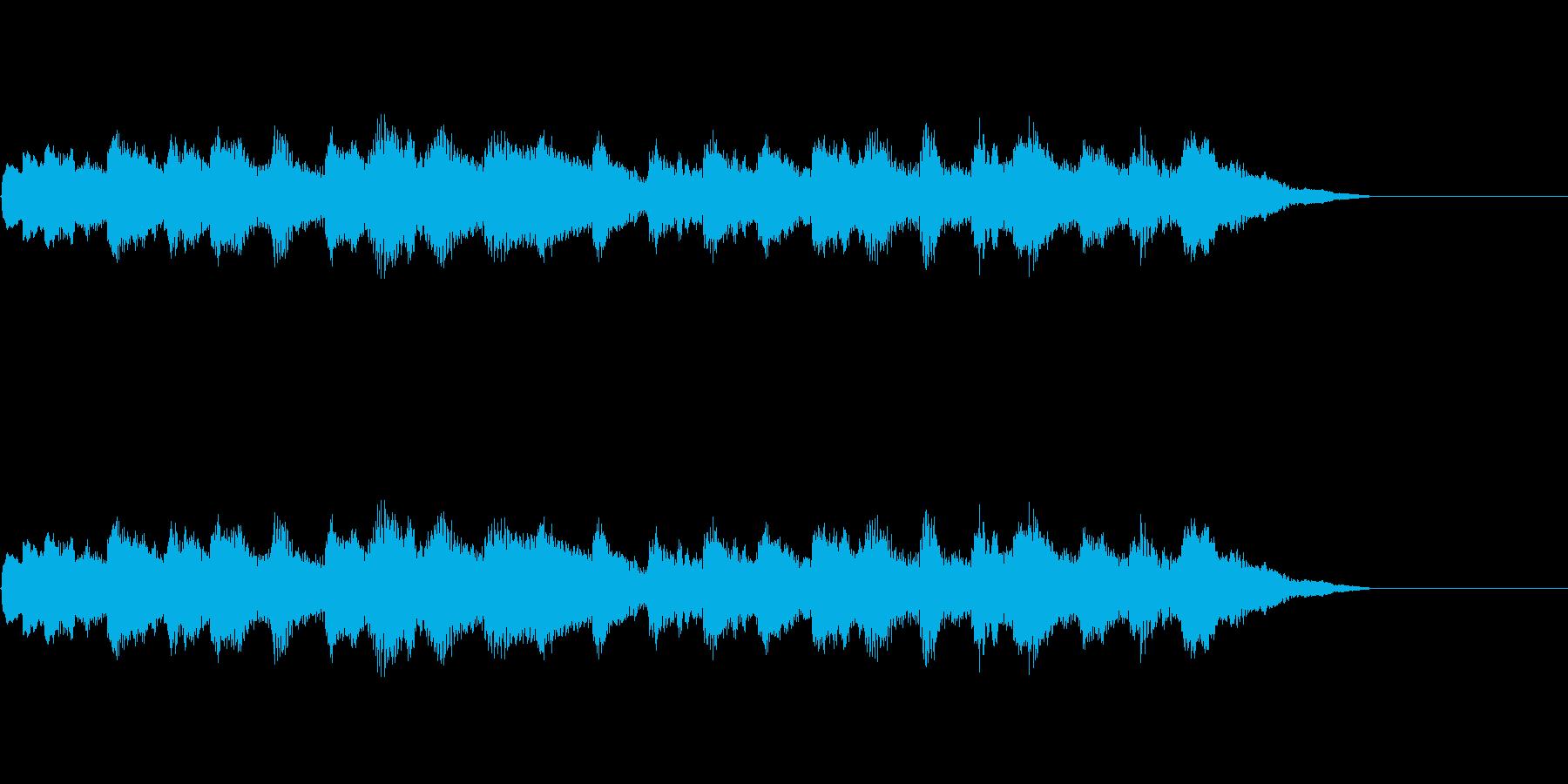 オルゴール、赤ちゃんや幼児をイメージ。の再生済みの波形