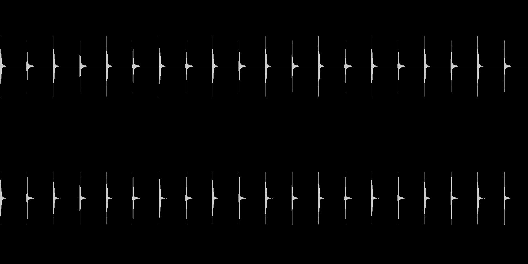 チャッチャッ:アナログのストップウォッチの未再生の波形