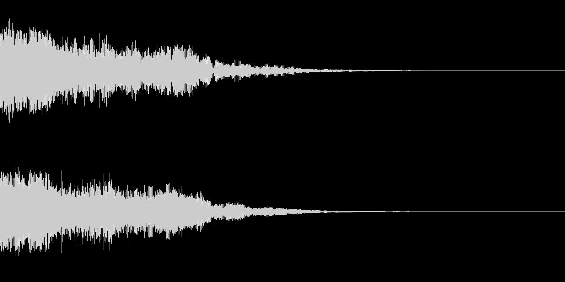 1つの動きで印象に残るOPタイトルの未再生の波形