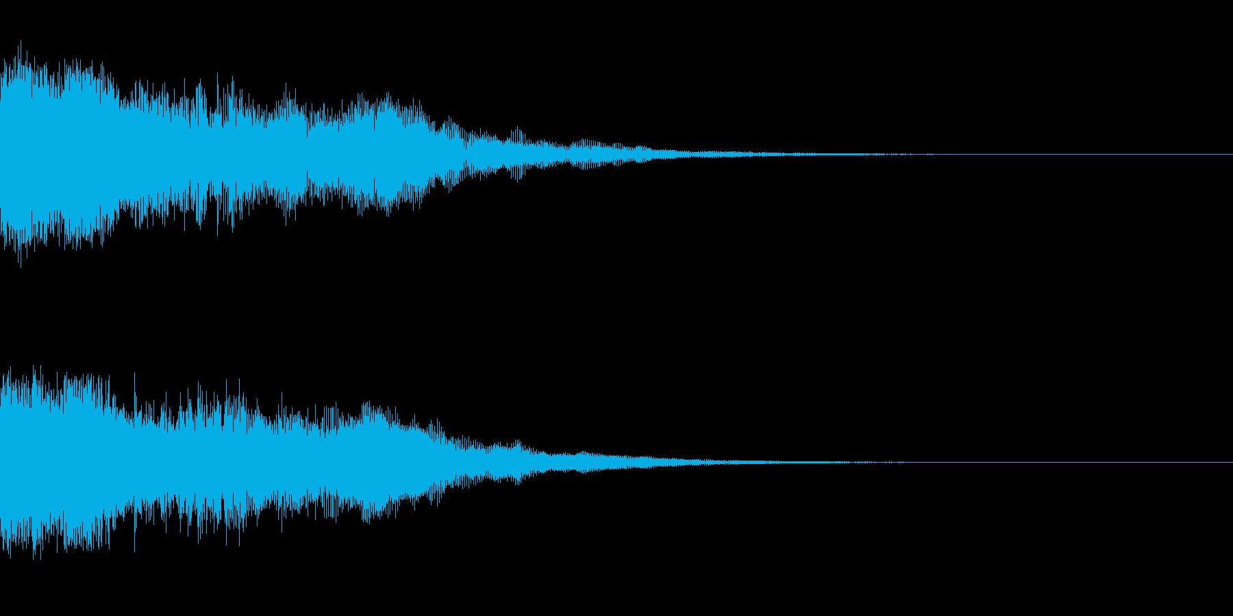 1つの動きで印象に残るOPタイトルの再生済みの波形