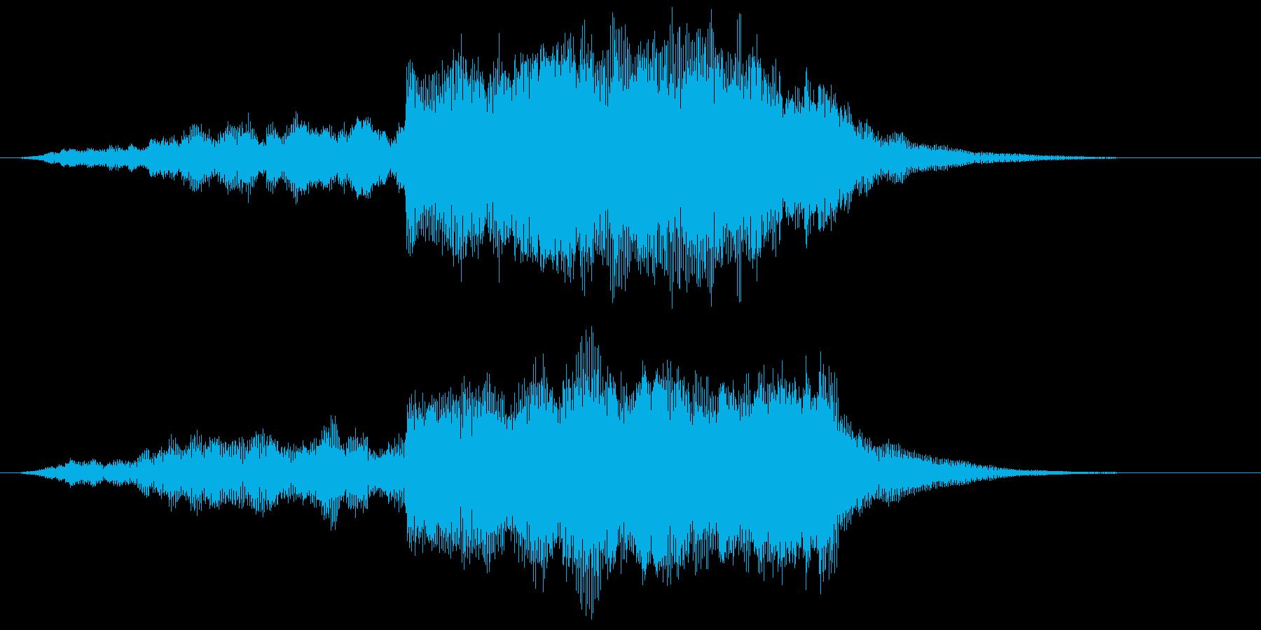 幻想的で広がりのあるサウンドロゴの再生済みの波形