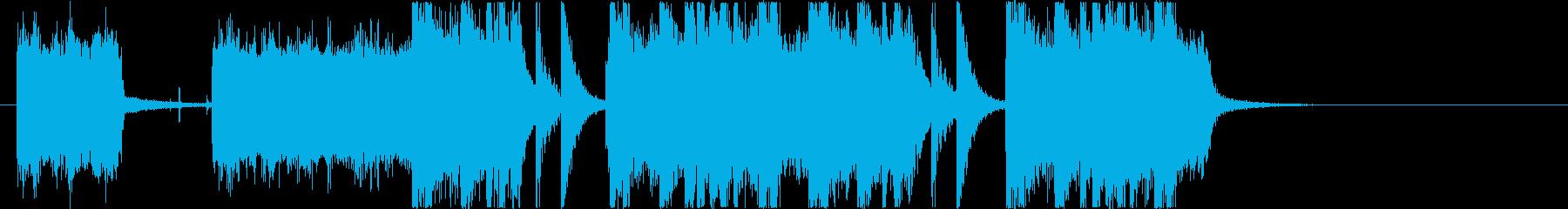 近未来的かつ期待感を与えるテクノピアノの再生済みの波形