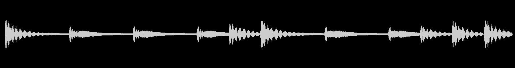 和太鼓音源ループ素材です。こちらはリバ…の未再生の波形