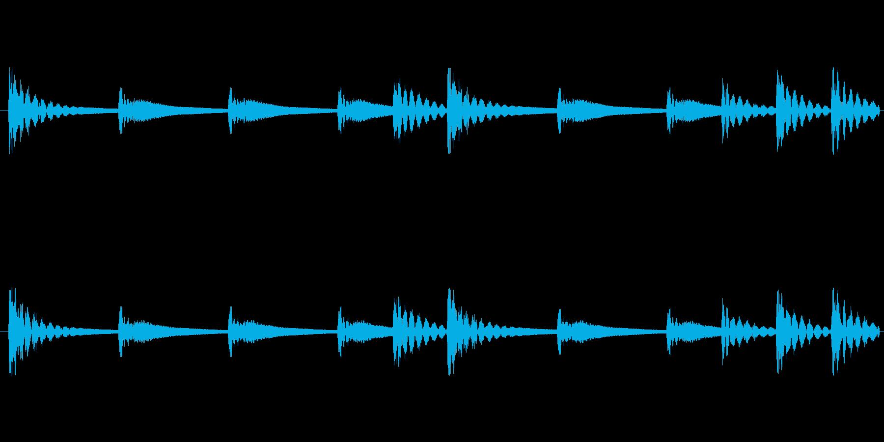 和太鼓音源ループ素材です。こちらはリバ…の再生済みの波形