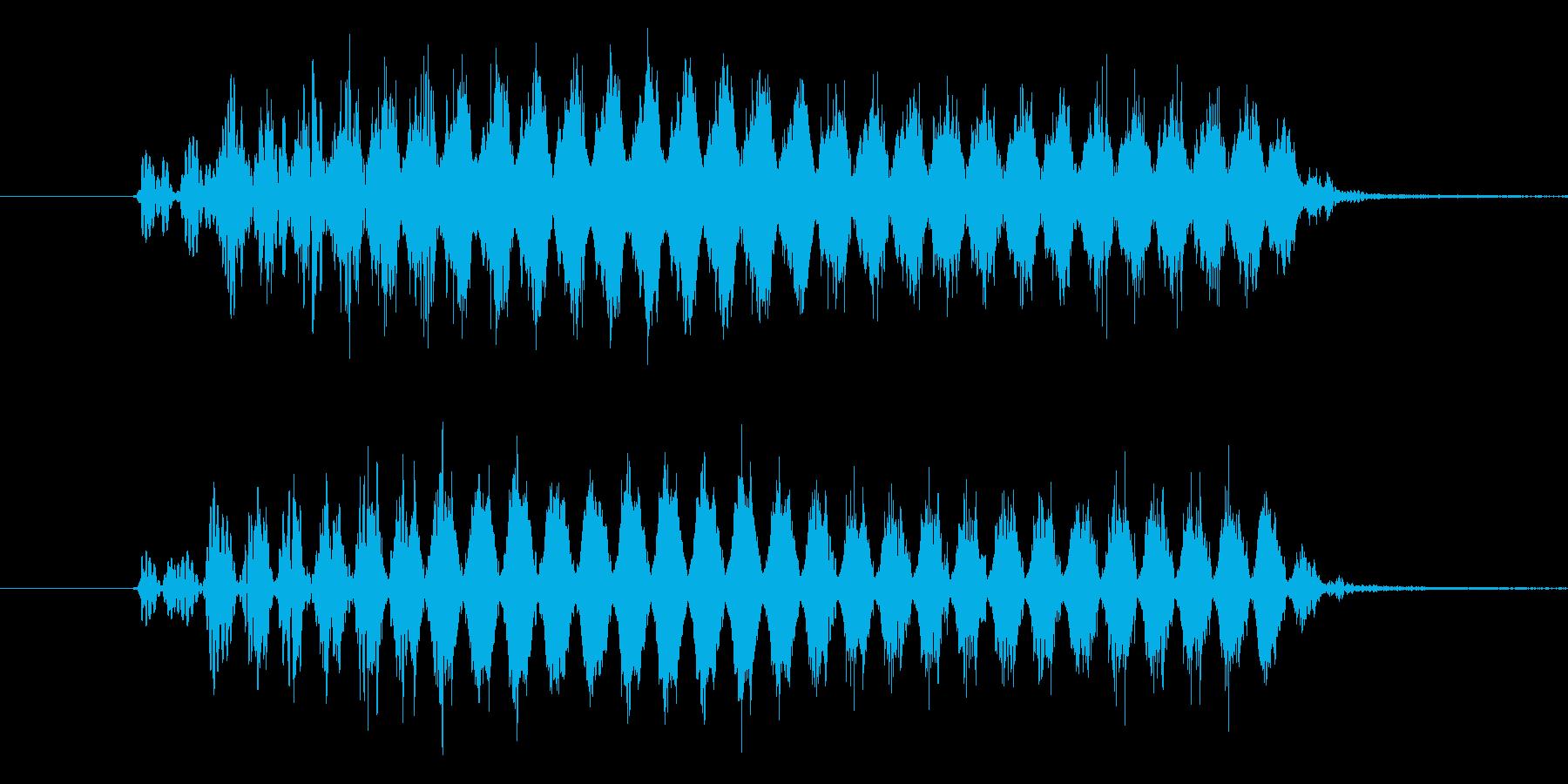 バリア音(ビューン) SE の再生済みの波形