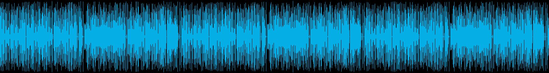 ループ再生・レトロゲーム風・楽しい日常の再生済みの波形