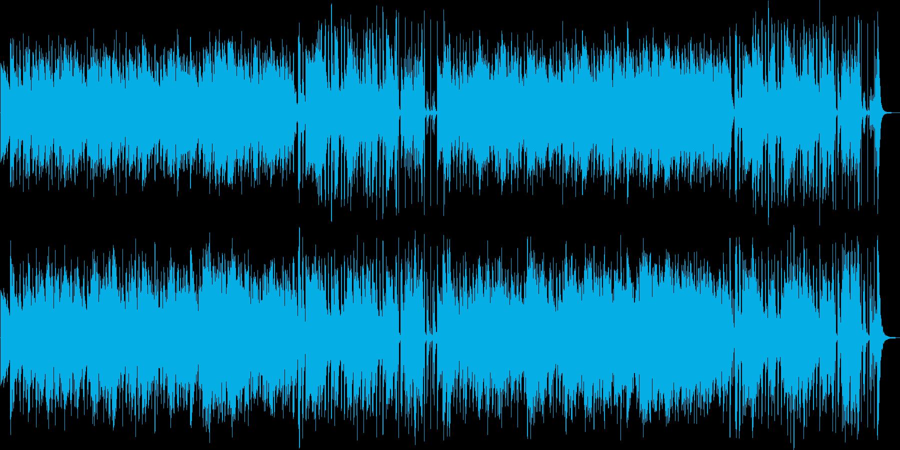 ほのぼのとしたイージーリスニング曲の再生済みの波形