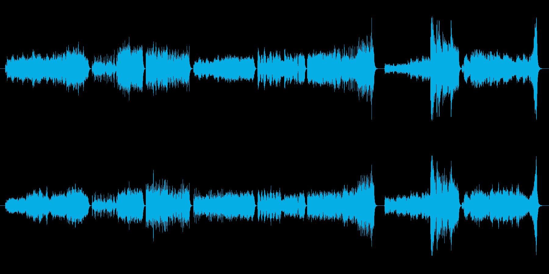 アメージンググレイスのオーケストラ変奏曲の再生済みの波形