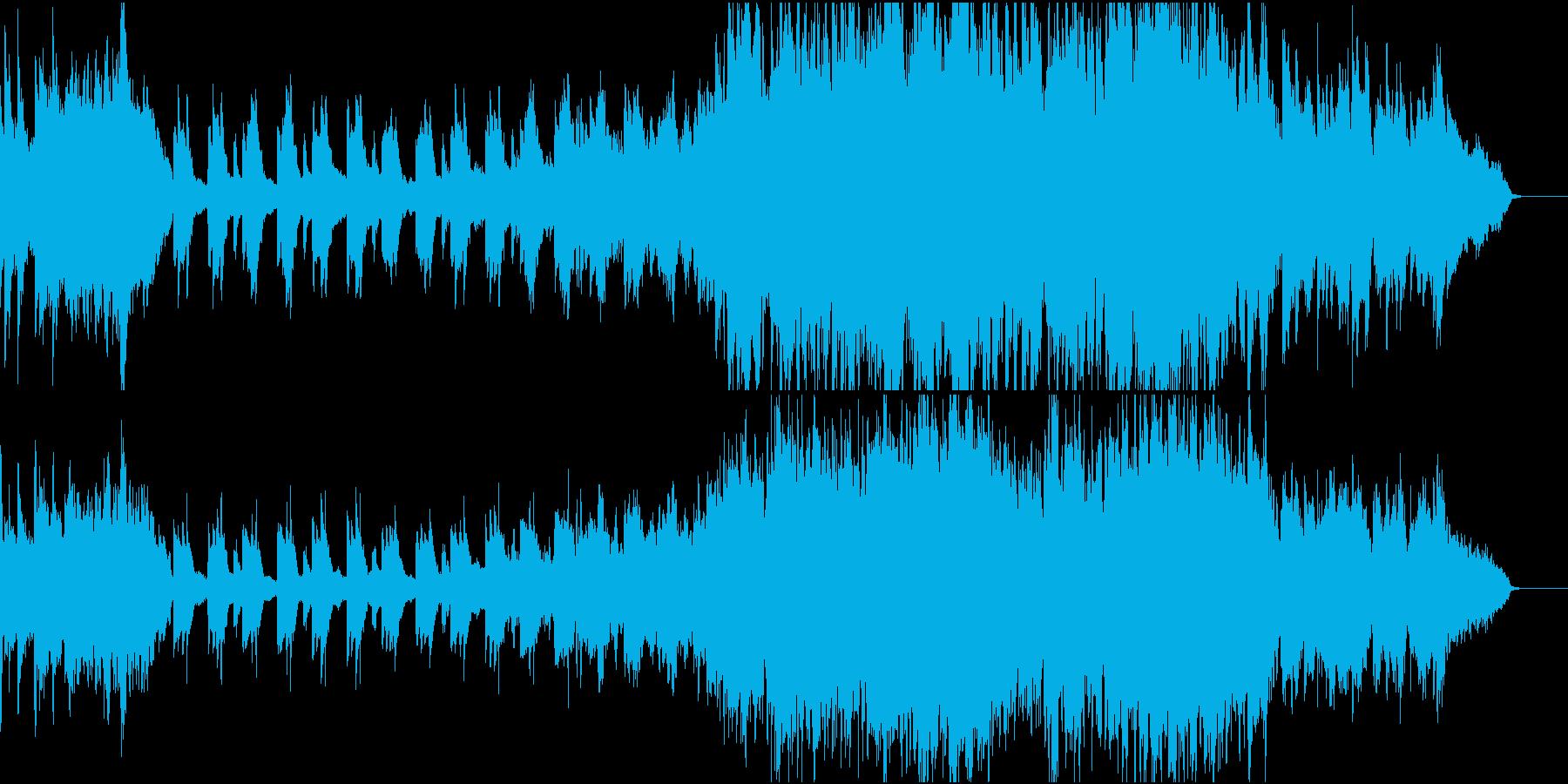 ピアノとストリングスのバラードの再生済みの波形