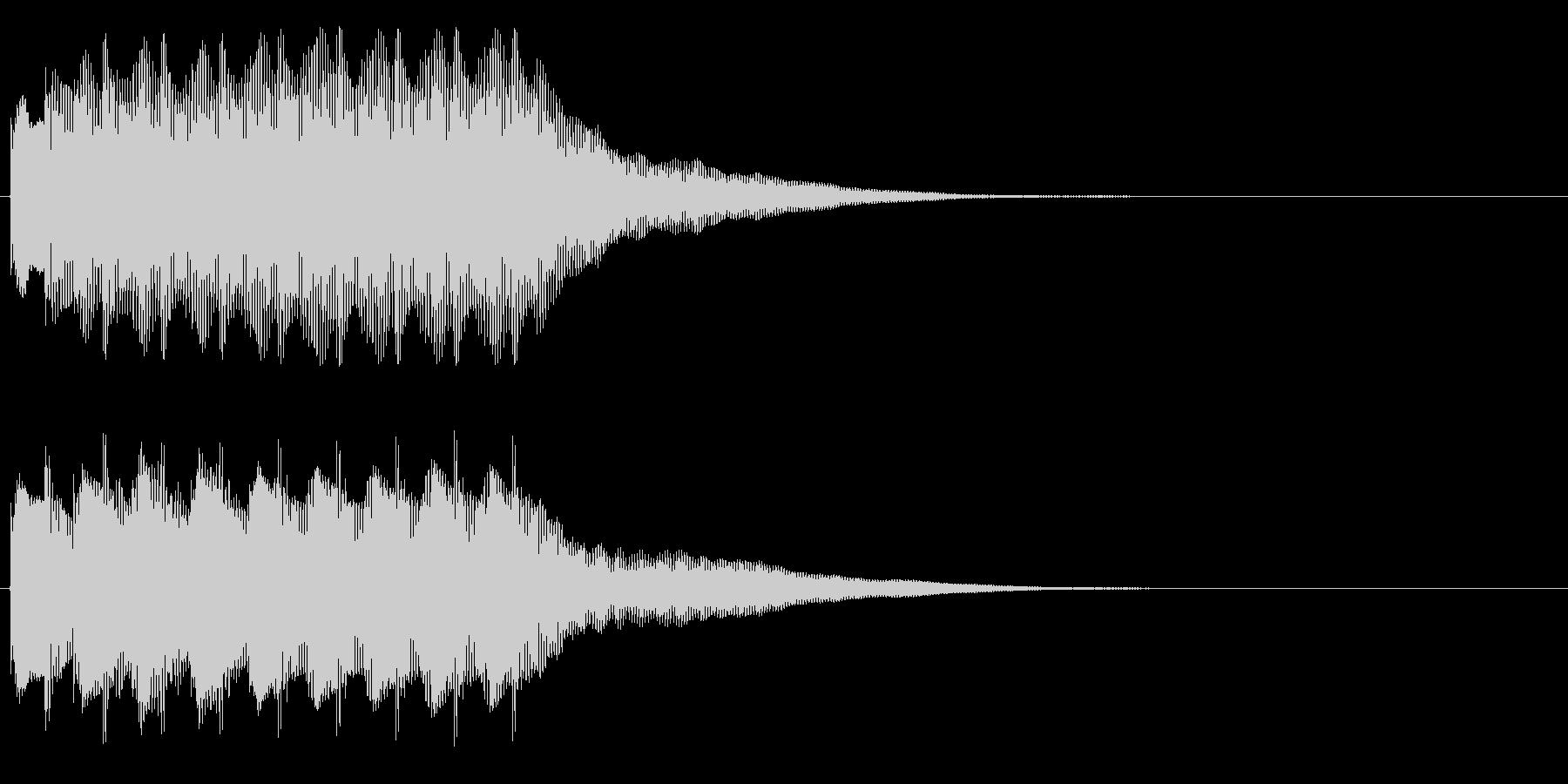 正解、注目(チャイム、ベル系)の未再生の波形