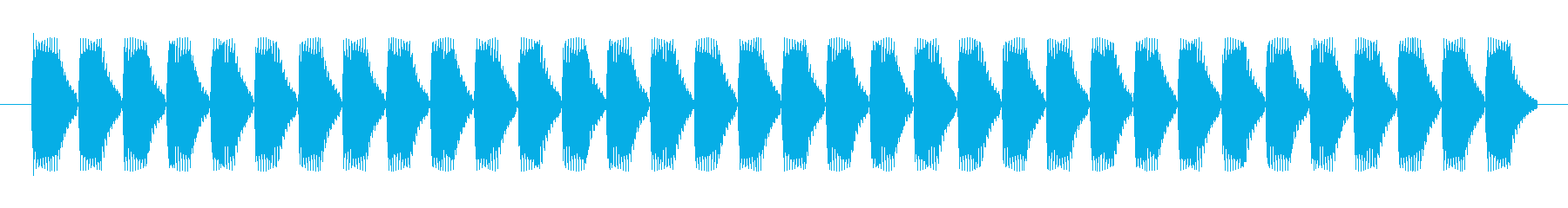HPゲージの効果音の再生済みの波形