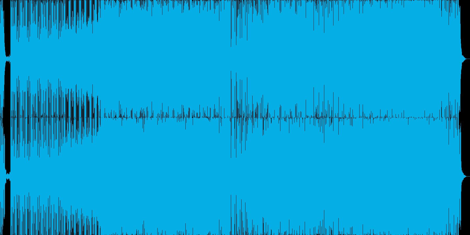 明るく、力強いエレクトロの再生済みの波形