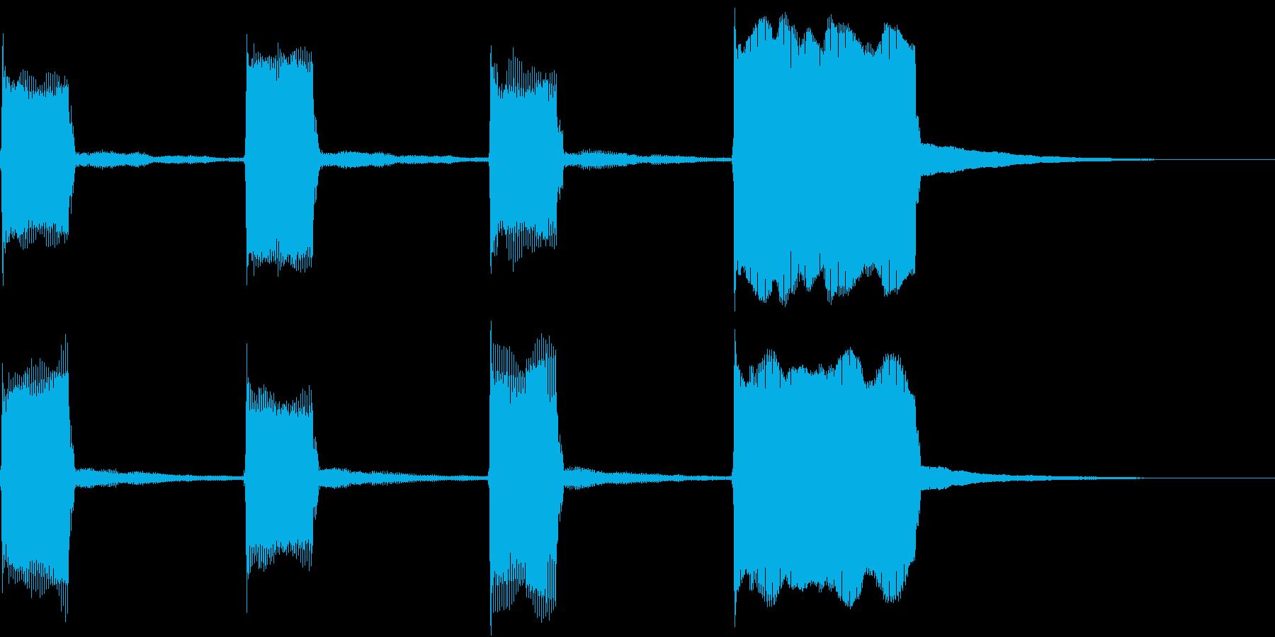 GP レースのスタートカウントダウン 8の再生済みの波形
