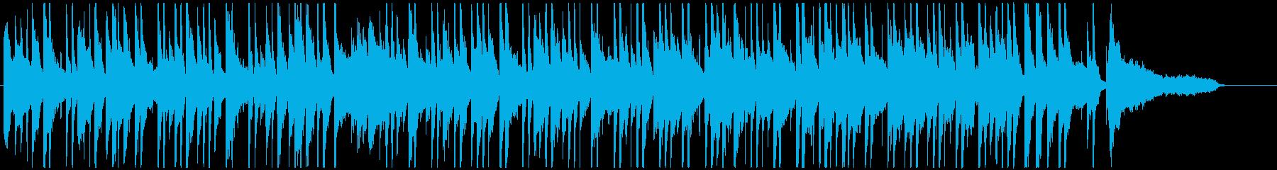 オシャレなラウンジ風のボサノバ(短め)の再生済みの波形