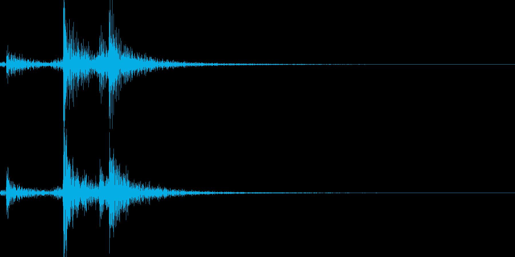 ヤカンのふたを閉めるの再生済みの波形