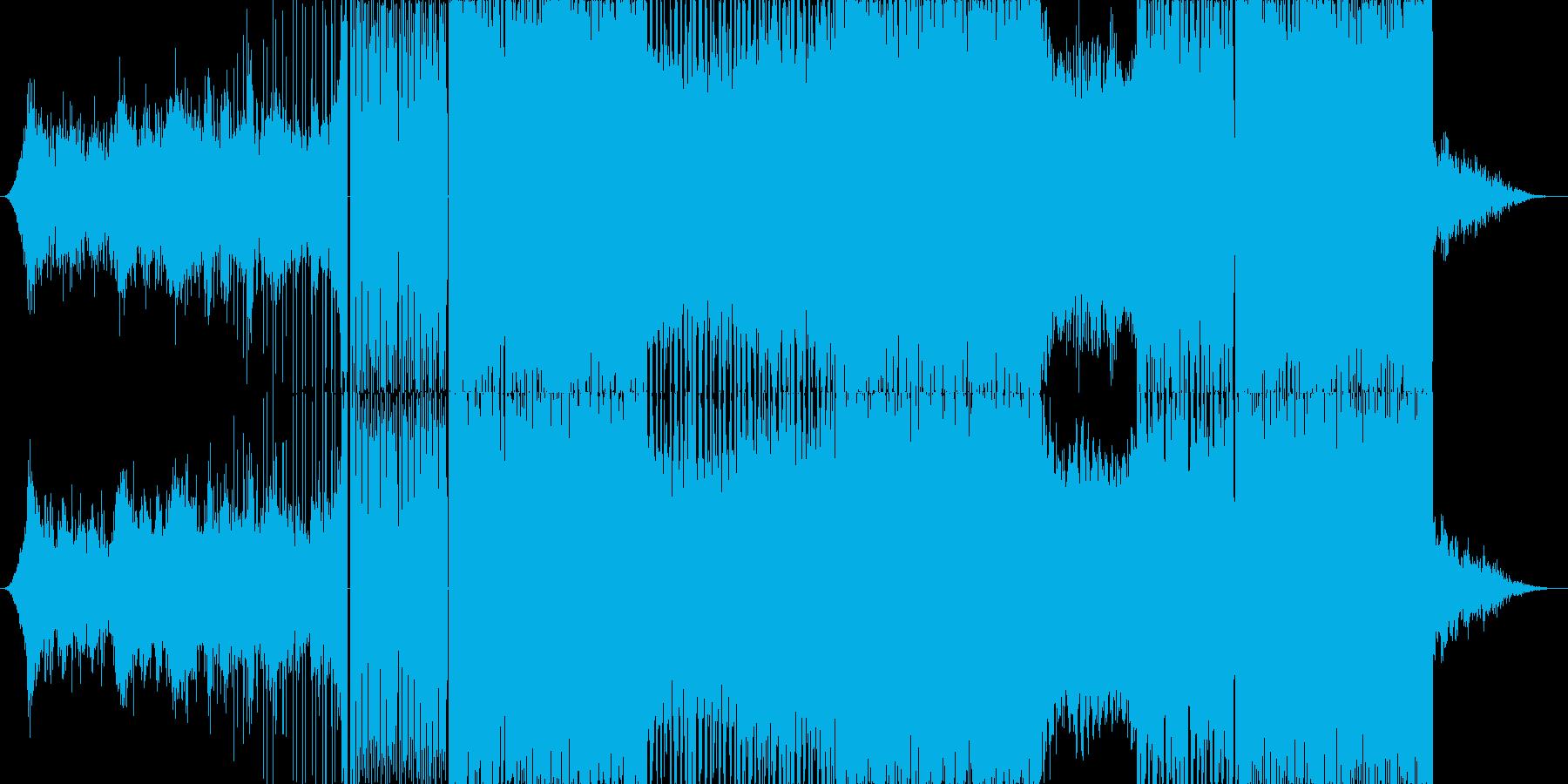 戦闘シーンをイメージした曲ですの再生済みの波形