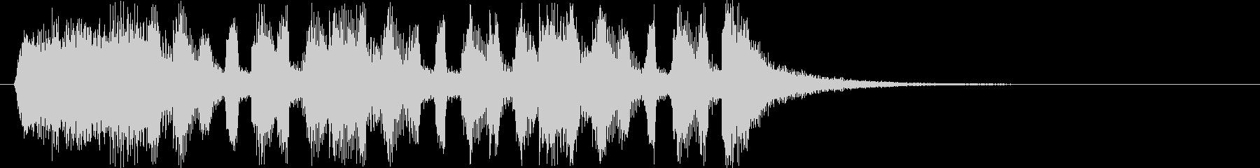 慌ただしいコミカルな効果音の未再生の波形