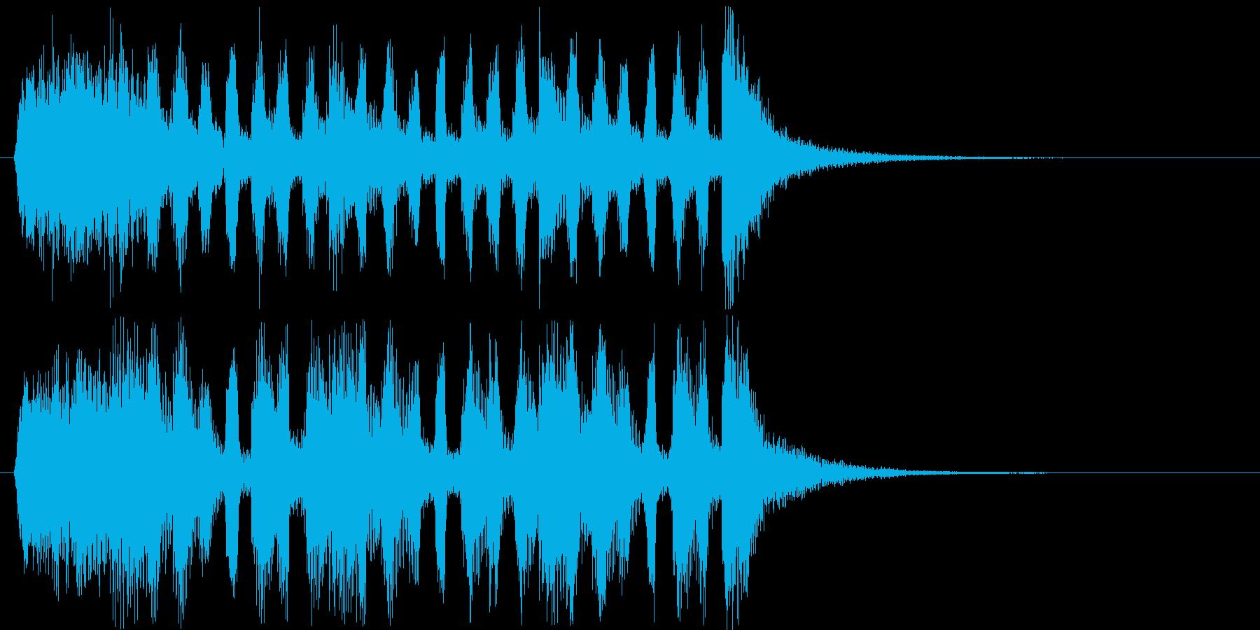 慌ただしいコミカルな効果音の再生済みの波形