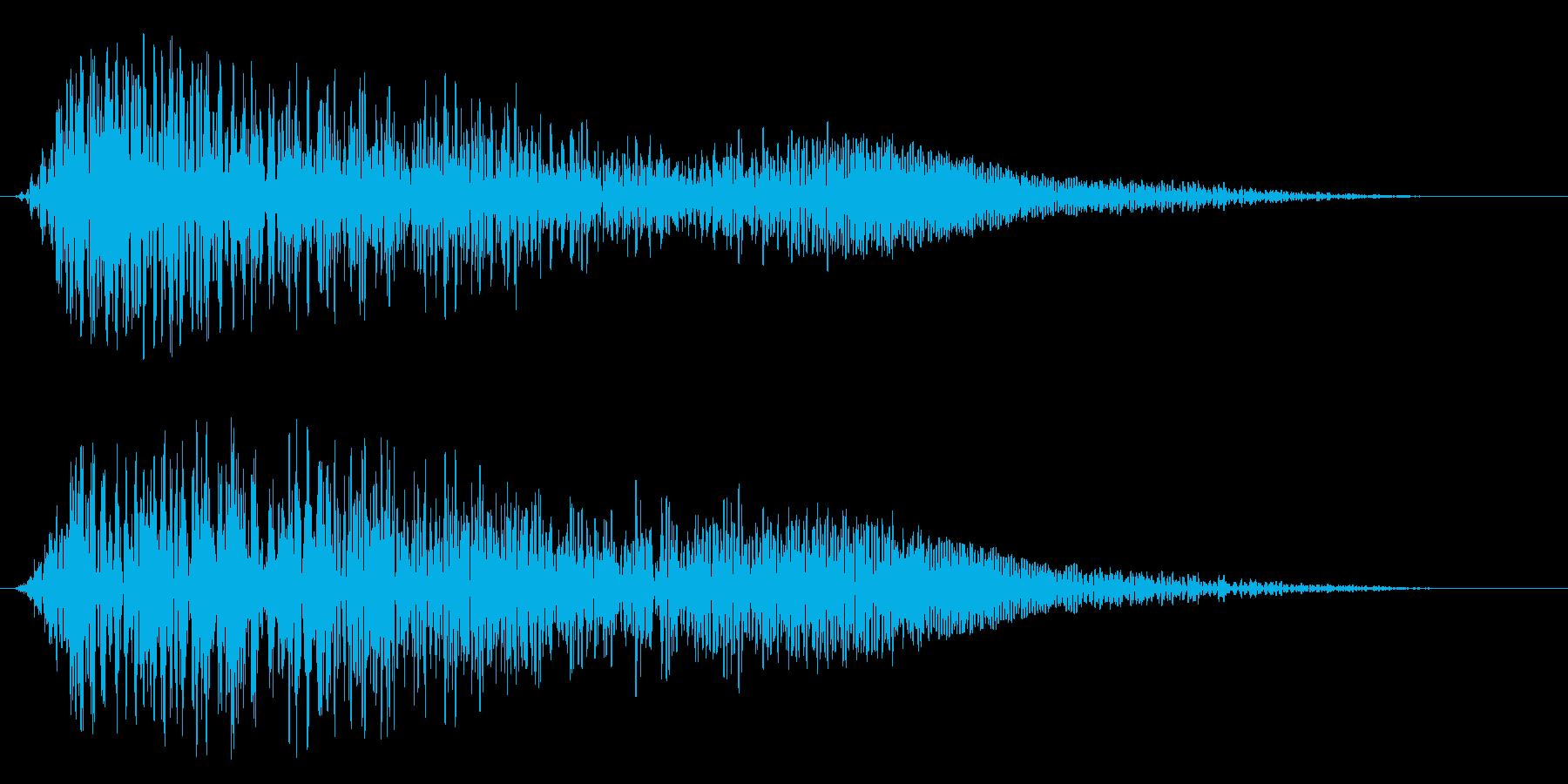 曇りのある落ち着いた効果音の再生済みの波形