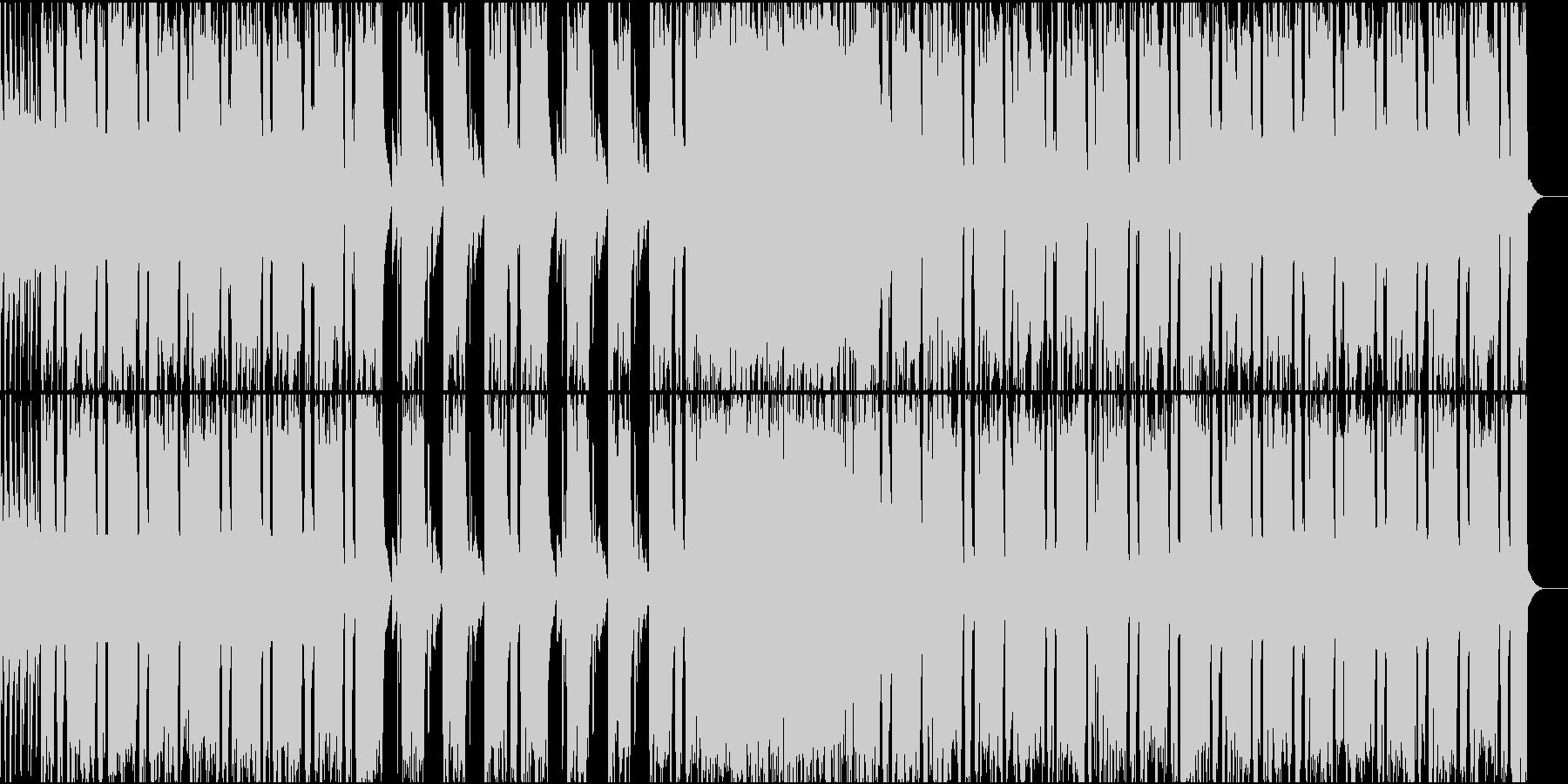 状況の好転を知らせるようなギターロックの未再生の波形