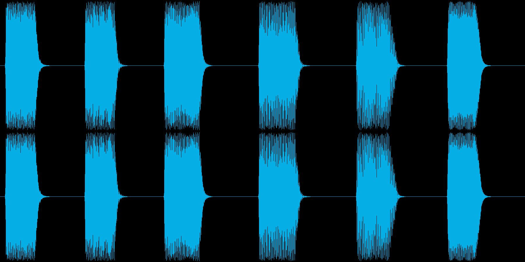 効果音。ピロリロ音(ゲーム音)の再生済みの波形
