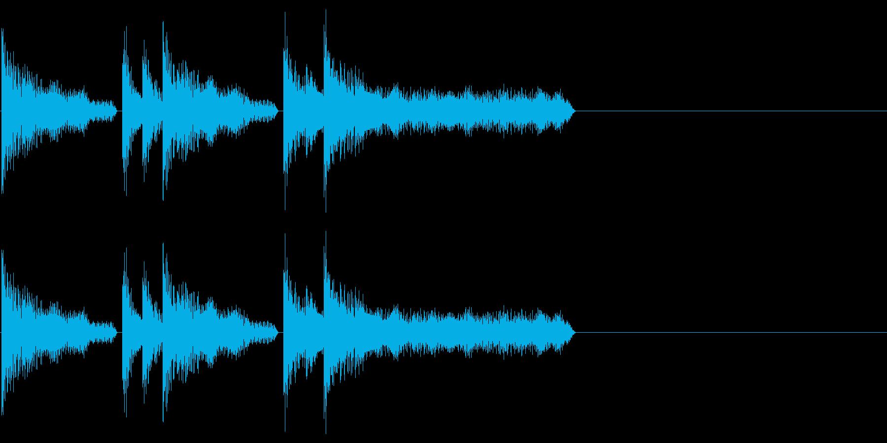 レトロゲーム風・ステージクリア#3の再生済みの波形