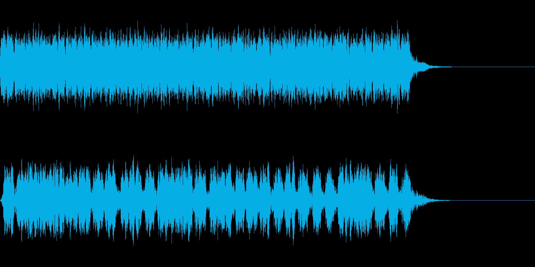 クイズの謎の部分の再生済みの波形