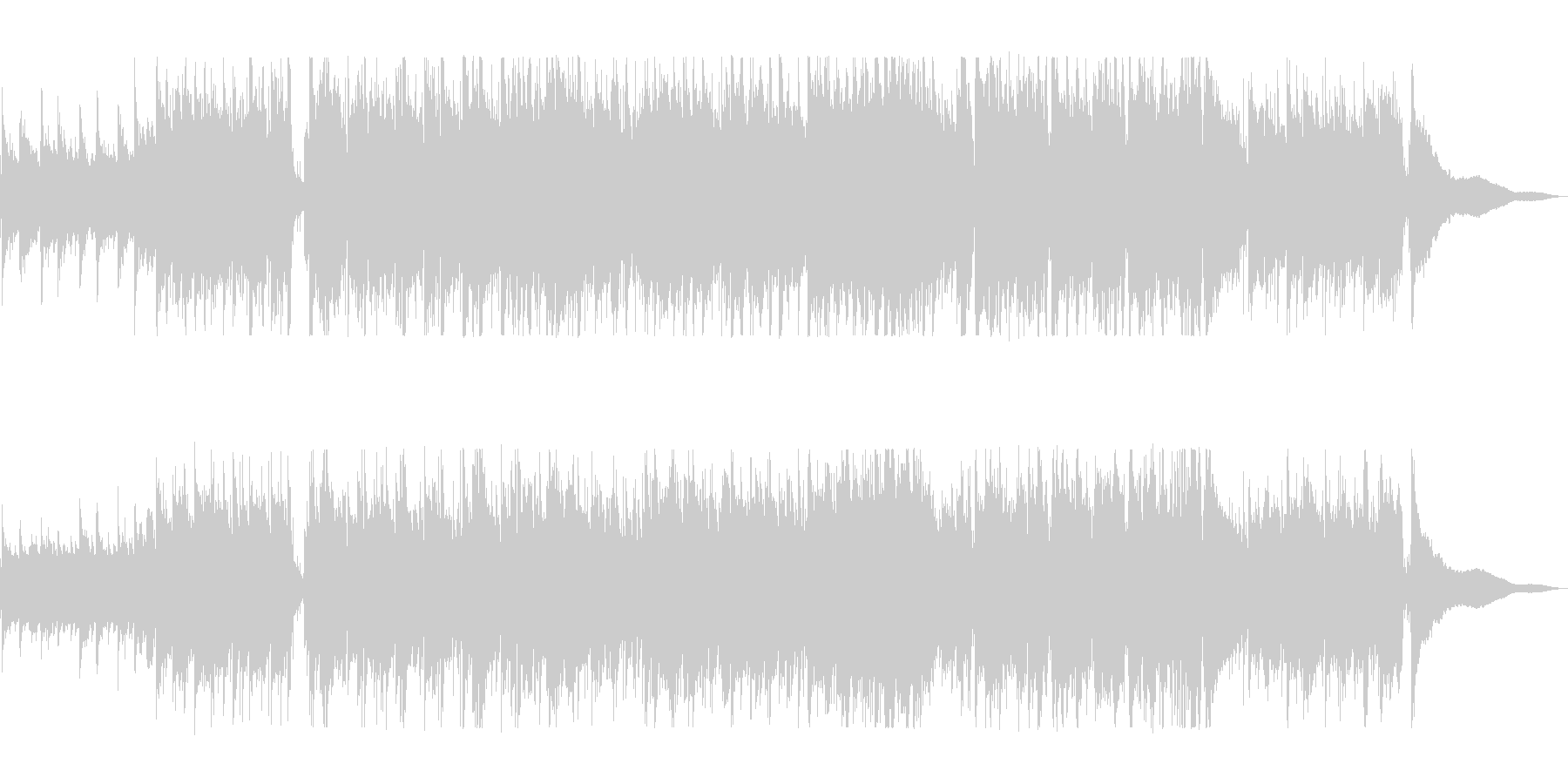 究極のホリデーミュージックの未再生の波形