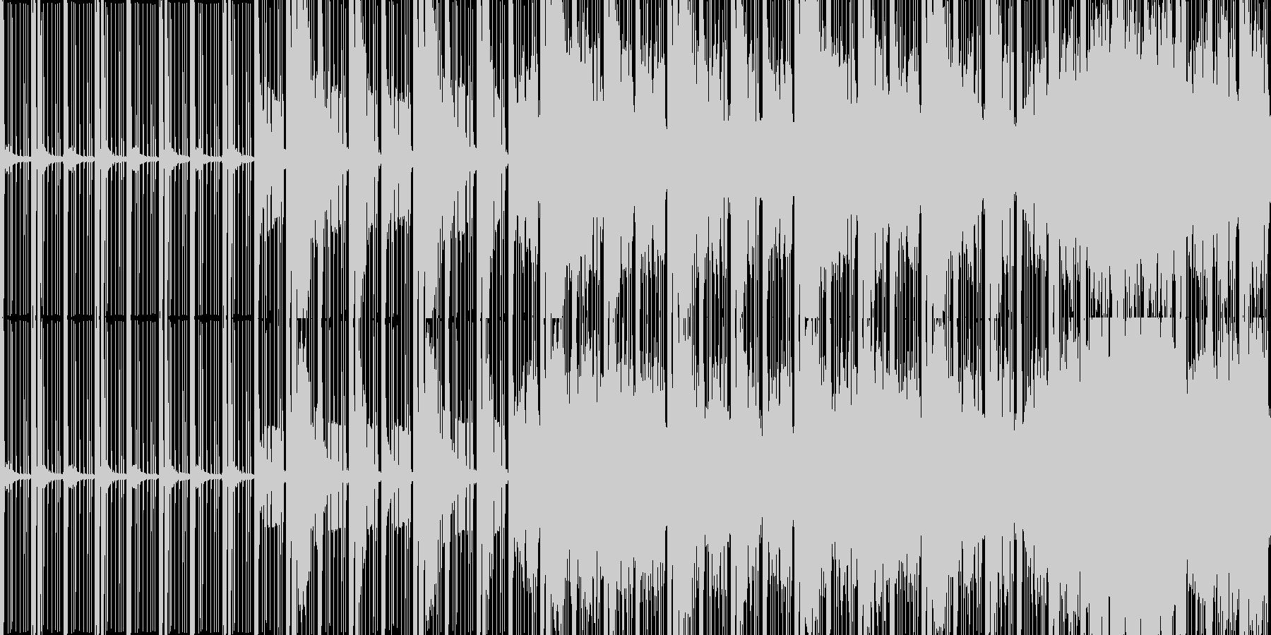 ループ暗く静かなエレクトロニカ選択画面他の未再生の波形