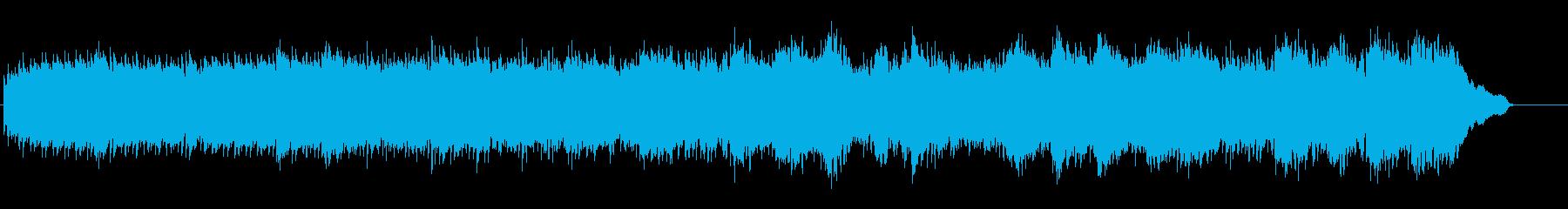 ピアノと弦楽器のおしゃれな映像用BGMの再生済みの波形