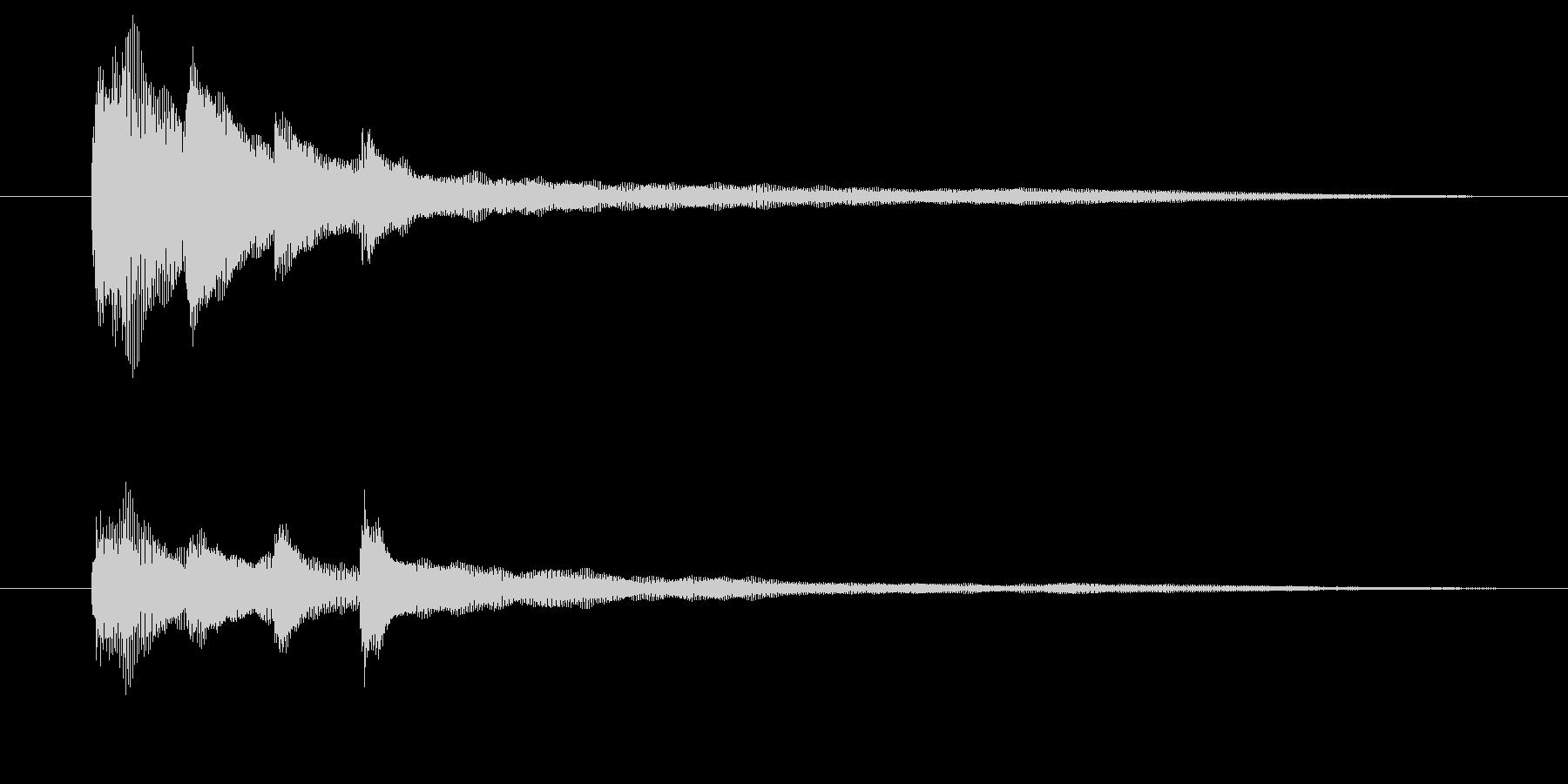 ピアノだけのシンプルで綺麗なジングル1の未再生の波形