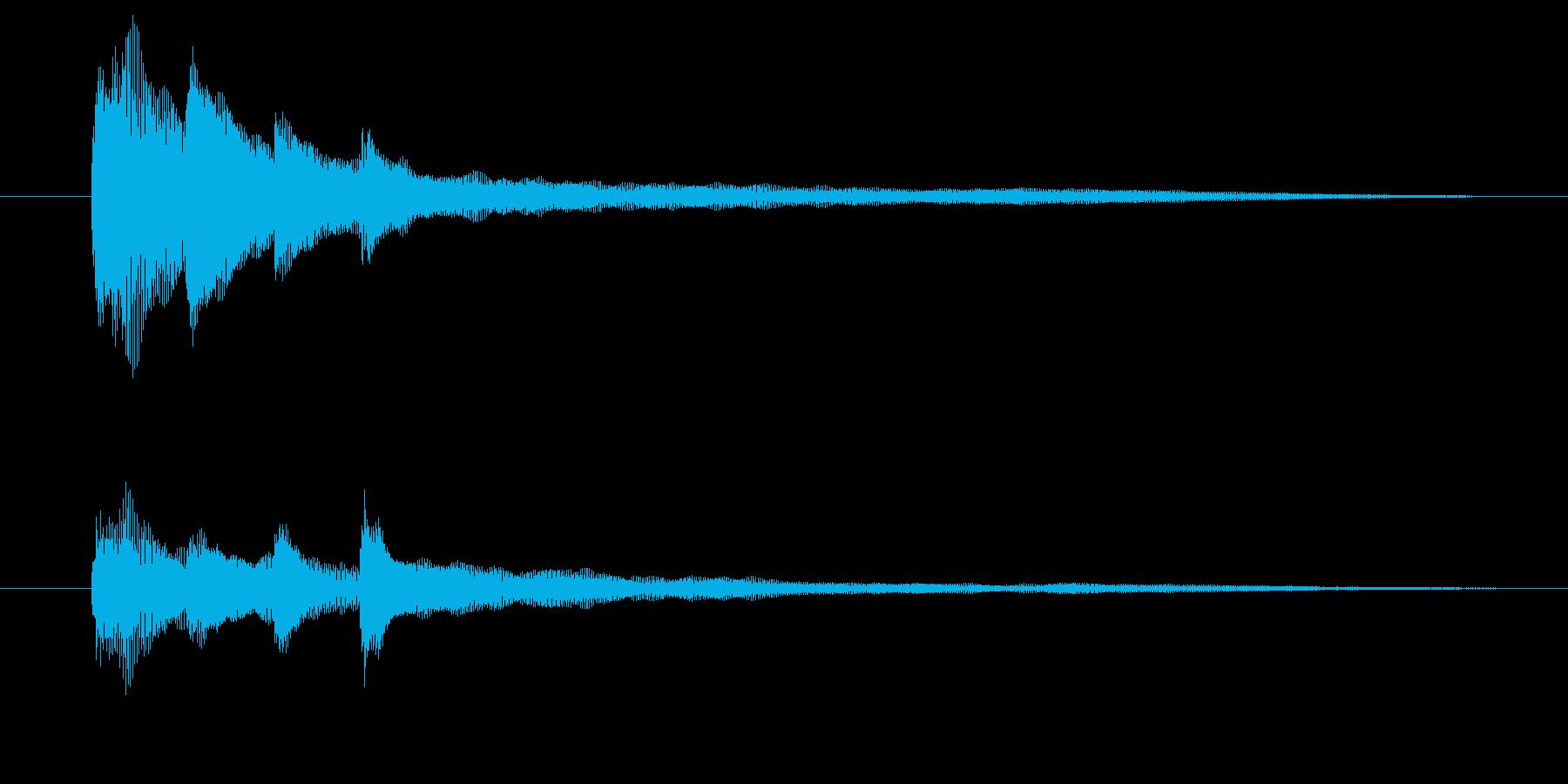 ピアノだけのシンプルで綺麗なジングル1の再生済みの波形