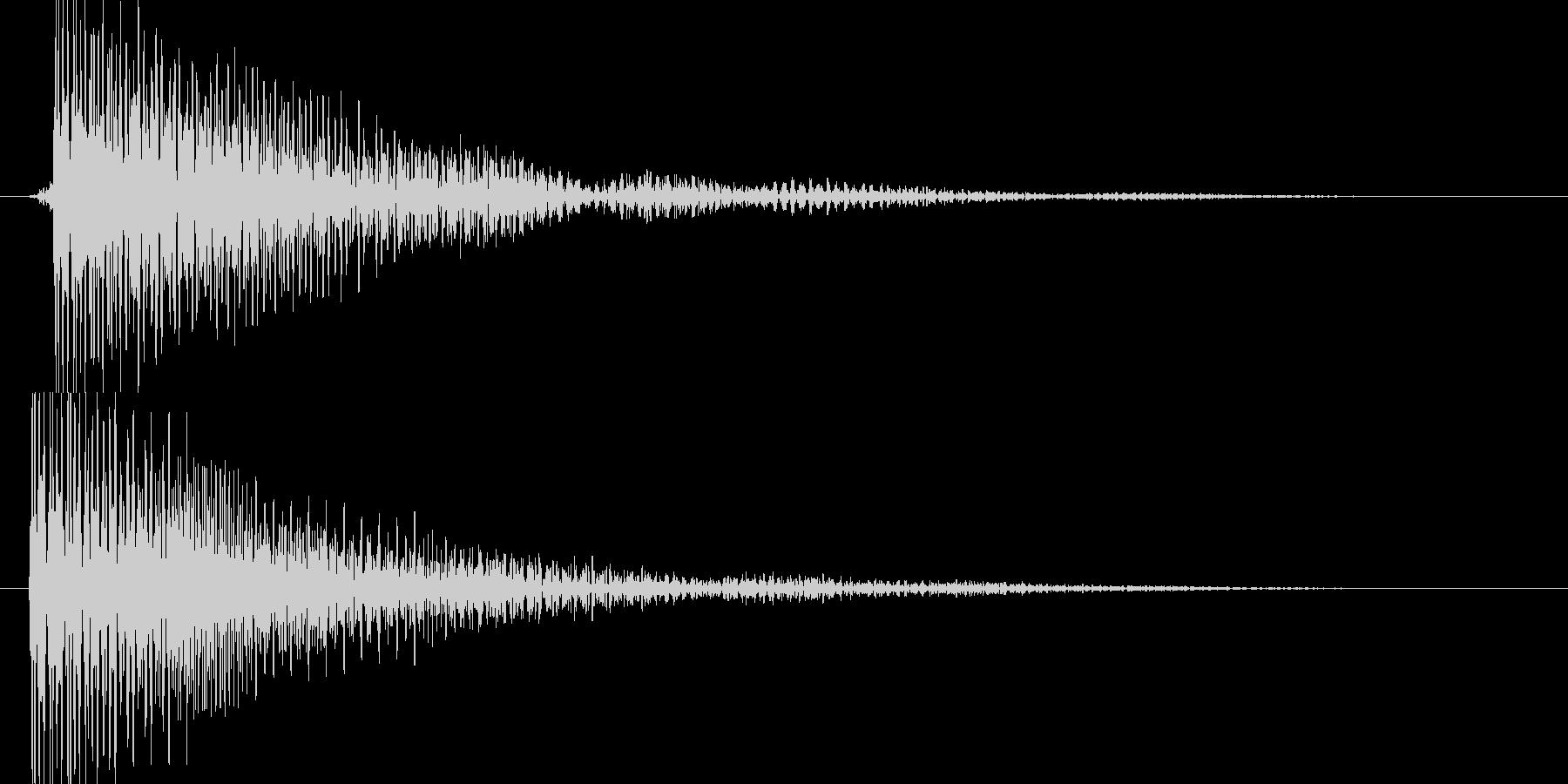 ピ(近未来的な決定音、落ち着いた感じ)の未再生の波形