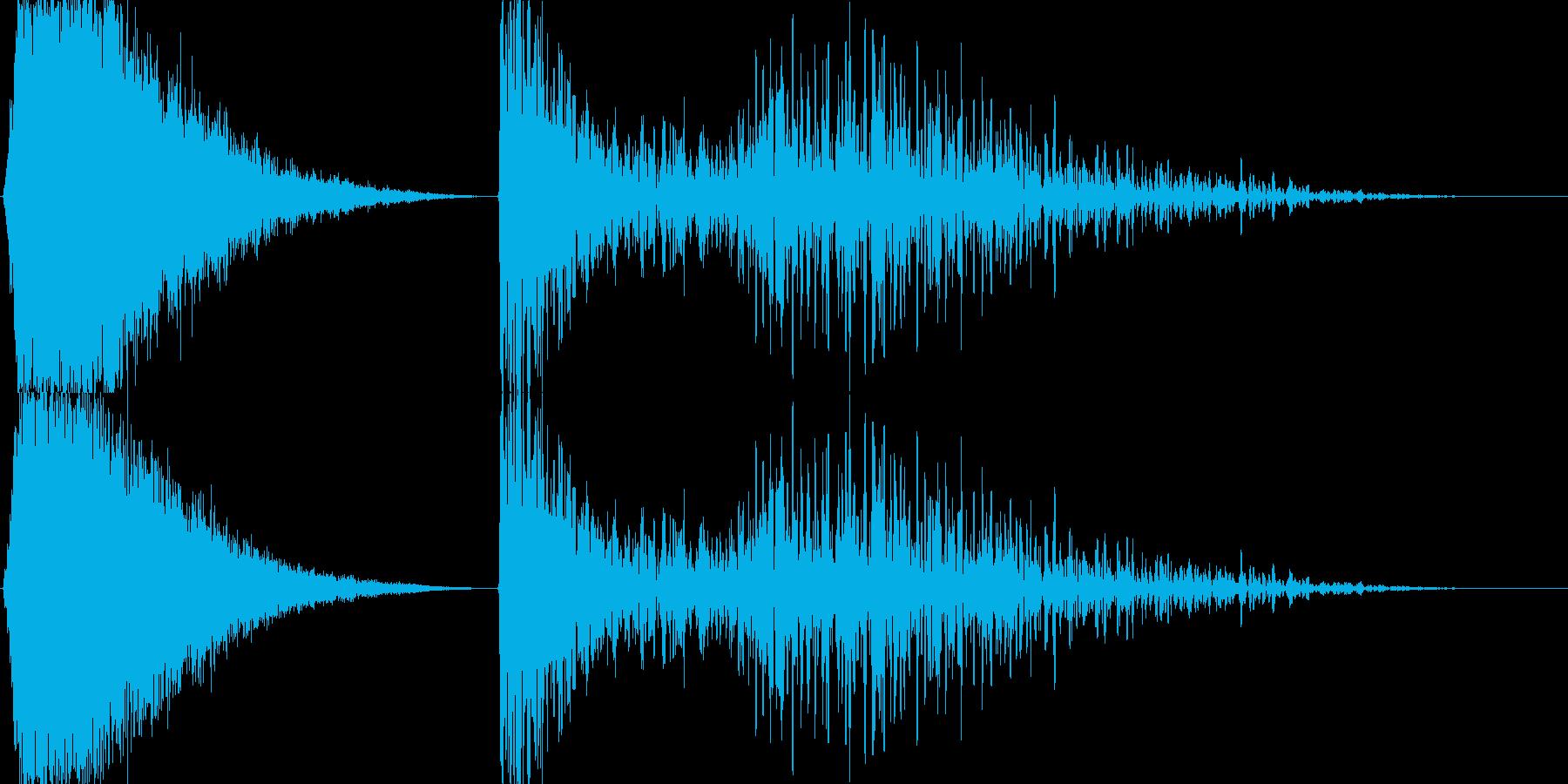 ミサイル発射→爆発の再生済みの波形