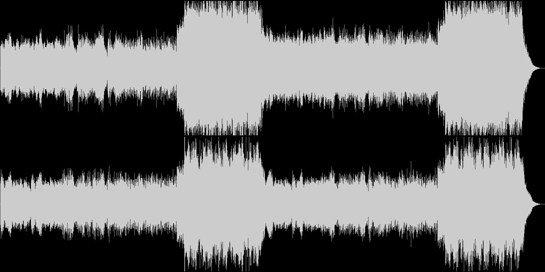 エンニオモリコーネ風オリジナル曲の未再生の波形