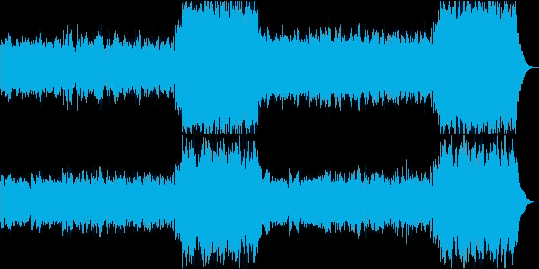 エンニオモリコーネ風オリジナル曲の再生済みの波形