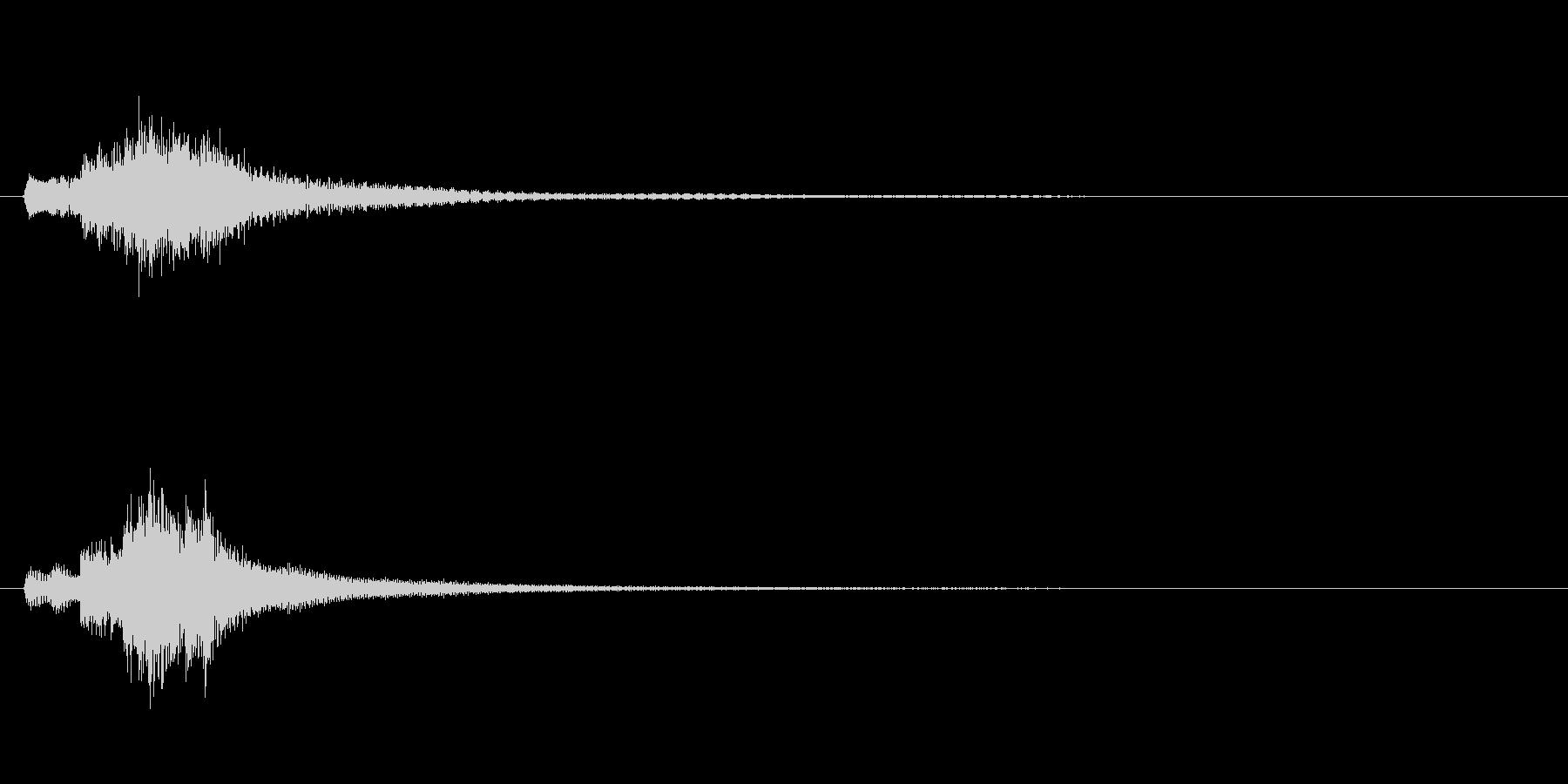 琴、陰施法、上昇スケールジングルの未再生の波形