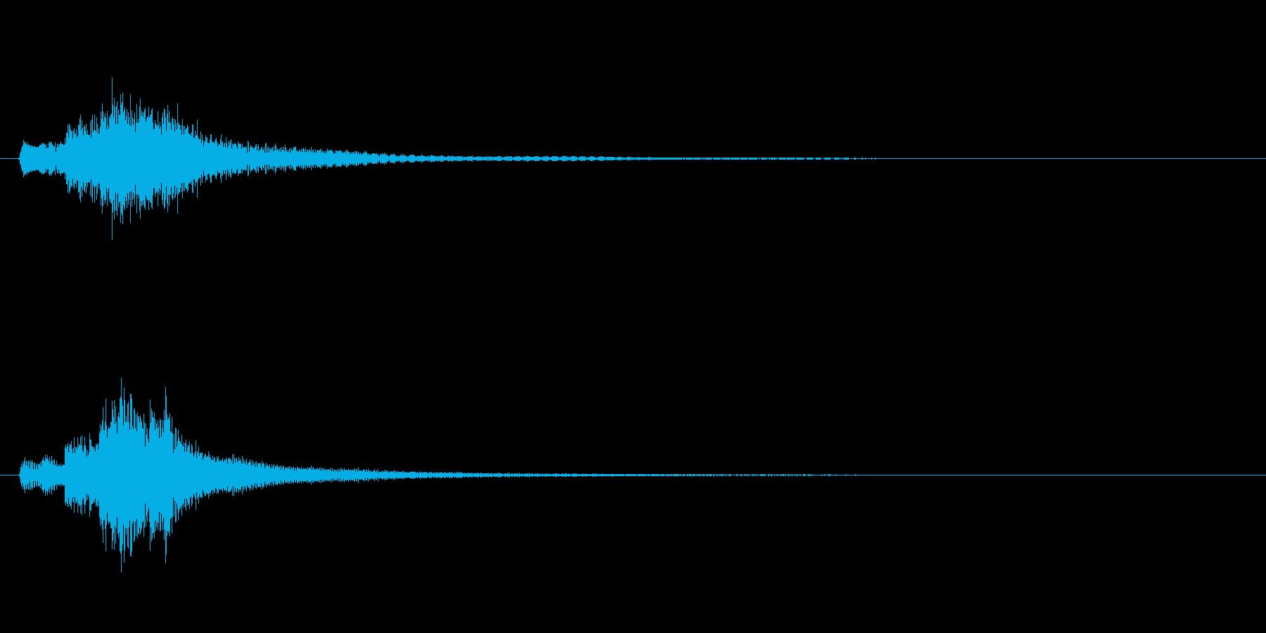琴、陰施法、上昇スケールジングルの再生済みの波形