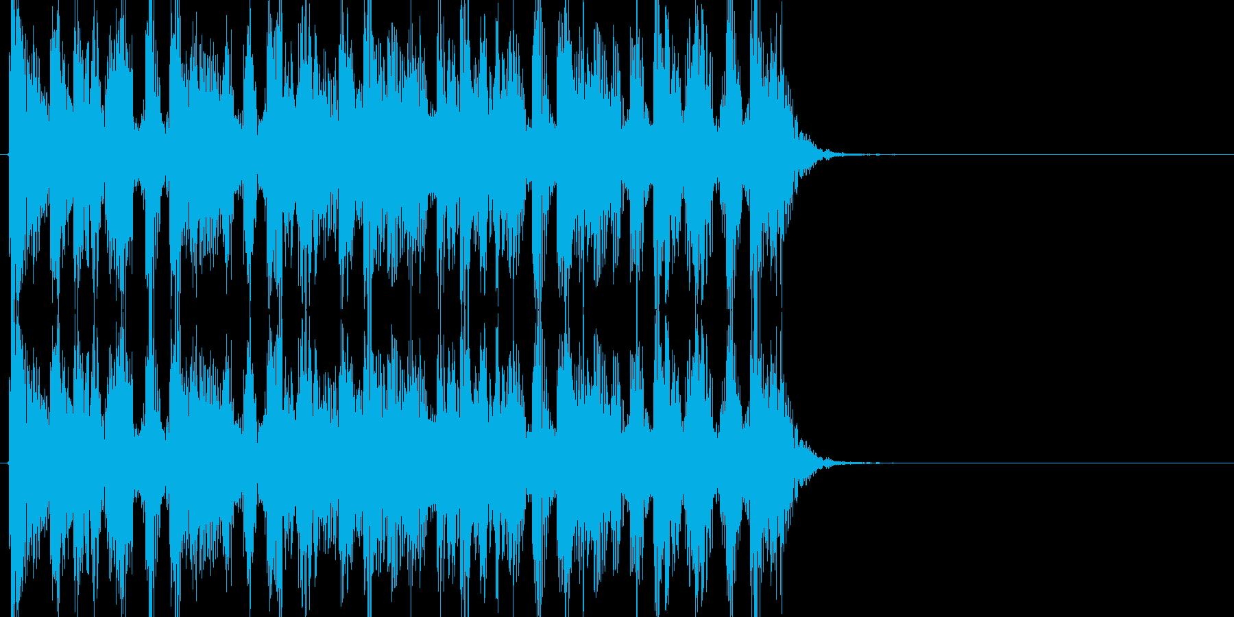 デトロイトテクノ調のジングル向きの短い曲の再生済みの波形