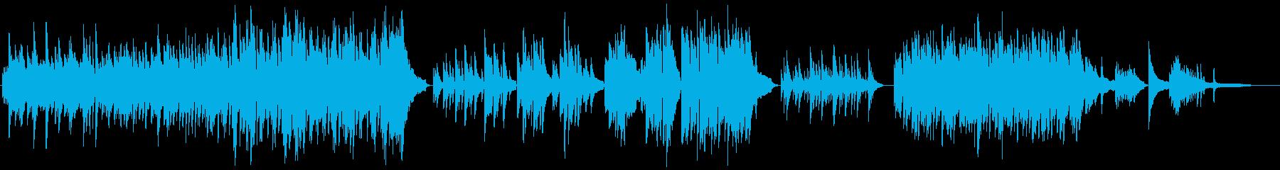 感動的な和風ピアノインストゥルメンタルの再生済みの波形