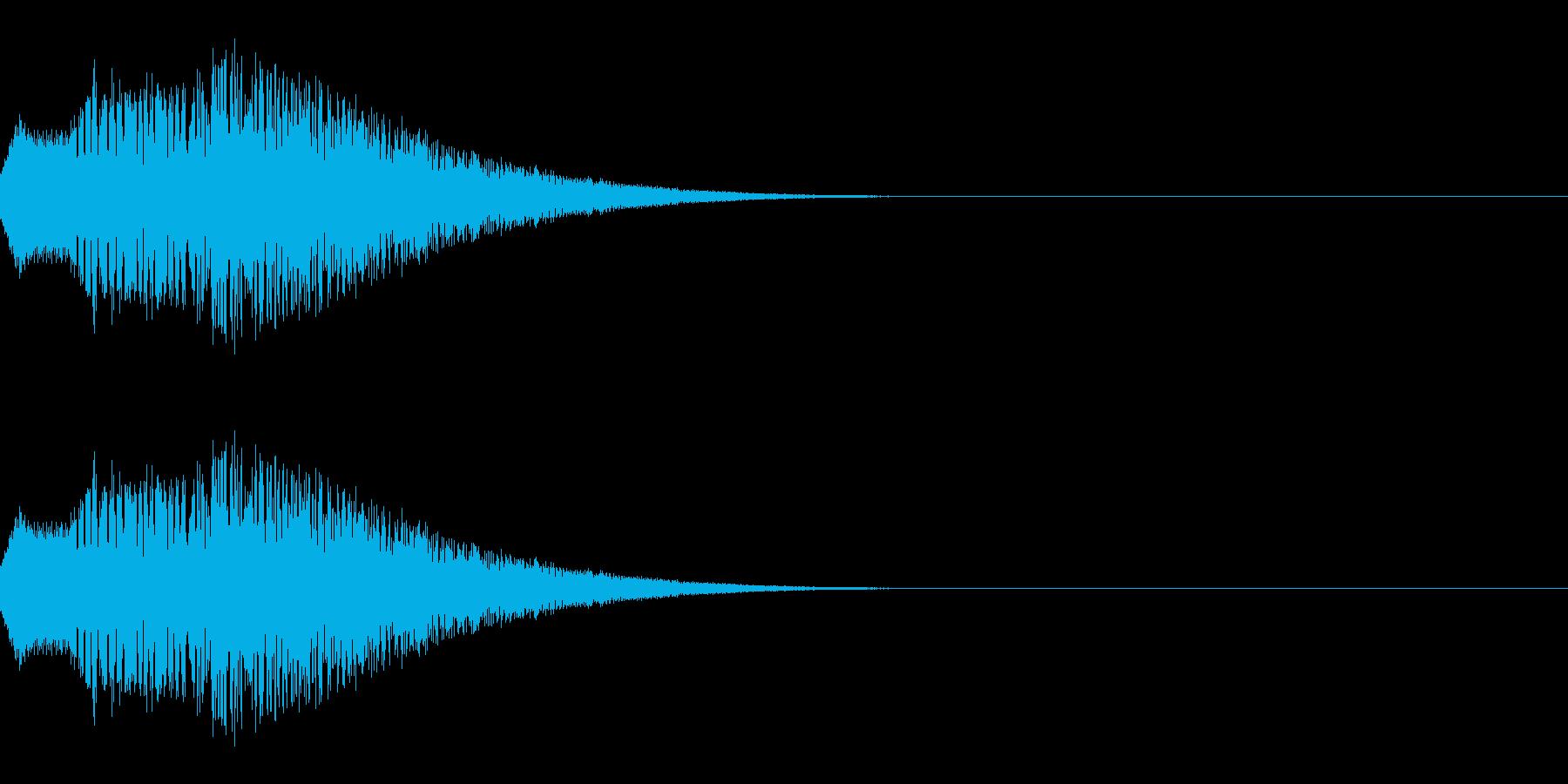 ポップな上昇系の効果音_その2の再生済みの波形